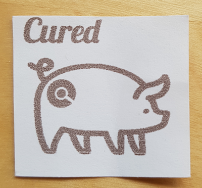 cured pig
